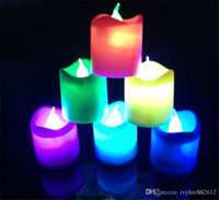 battery operated lights for weddings - Electric Flash LED Tealight Tea Candles Color Changing Flameless Light Battery Operated Lamp for Wedding Party Christmas Decoration