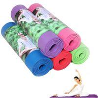 Wholesale 10mm Thicken NBR Yoga Mat For Beginners Fitness Mat Hatha Pilates Mat Flexible Yogitoes Skidless Exercise Yoga Pad Environmental Odorless