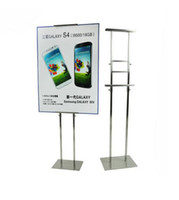 advertising signboard - Silver Metal Adjustable Poster Display Stand Poster Rack Holder Signboard Stand Poster Holder rack stand