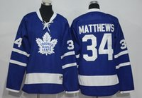 Wholesale 2016 New Kids Hockey Jerseys Maple Leafs Jerseys Matthews Blue White Color Youth Jersey Size S M L XL Mix Order Stitched All Jerseys