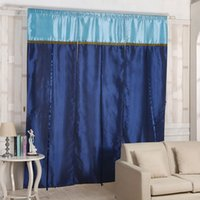 Wholesale New Tab Top Sheer Kitchen Balcony Window Curtain Voile Liftable Roman Blinds Blue Panel Decoration cm cm