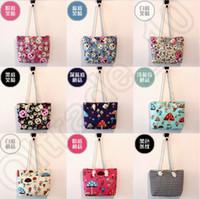 Wholesale 300PCS LJJH1358 Emoji print cotton canvas beach bags black white stripe tote bag fashion stripe design tote bag custom cotton handle bags