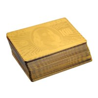 Wholesale 24K Gold Foil Plated Poker Playing Card Game High grade Sports Leisure Game Poker Card Gift