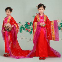 ancient chinese clothes - Chinese children costume dress girls dress trailing Royal princess of the Tang Dynasty in ancient Chinese fairy dance clothes