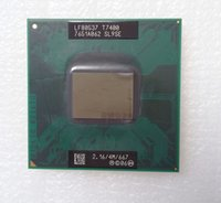 Wholesale Core Duo T7400 GHz MB MHz SL9SE PGA478 Socket P Mobile Laptop Processor Tested ok