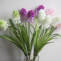 Wholesale 3 hyacinth violet flower simulation silk flowers Home Furnishing decoration of wedding flower flower road collocation