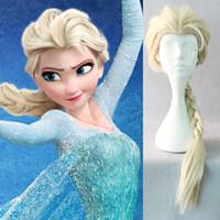 Wholesale princess elsa Wig Snow Queen Elsa Cosplay Wig cosplay accessories golden fantasy women party halloween ice wigs