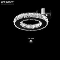 Wholesale Small LED chandelier Crystal Light lustres Diamond Crystal Ring Light LED Lighting Bedroom Lamp used for Ceiling or Wall