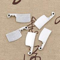 antique meat cleaver - Charms kitchen knife meat cleaver mm Antique pendant fit Vintage Tibetan Silver DIY for bracelet necklace