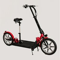 alloy wheels cheap - Folding Electric Cargo Scooter for Adult Aluminium Alloy Brushless Motor W V Men Women Kick Scooters Cheap Online ST8
