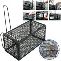 animal cage traps - 2xRat Catcher Spring Cage Trap Humane Large Live Animal Rodent Indoor Outdoor patio Lawn Garden Supplies SD G01