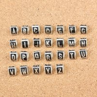 Wholesale Mix Brand New Styles Drip letter beads big hole loose beads fit European jewelry Diy bracelet charms DK196