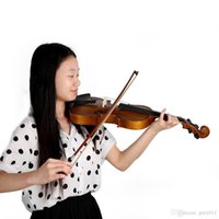 Wholesale High Quality Full Size Violin Fiddle Basswood Steel String Circle Style Bow Stringed Musical Instrument for Kids Beginners