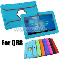 android soft case - 2016 New Soft Silicone Rubber Shockproof Gel Case Cover For inch Q88 Android Tablet PC