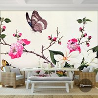 beautiful nature photos - Custom D Wall Murals Flower Butterfly Photo wallpaper Beautiful Wallpaper Art Room decor Kids Bedroom Living room Sofa backdrop Nature