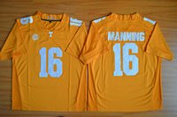 Wholesale College Football Jerseys Peyton Manning Tennessee Volunteers for Men Limited Jersey white stiched Free Drop Ship MIX ORDER Sunnee
