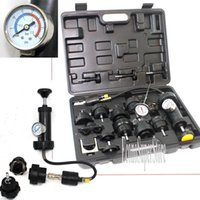 automotive radiators - 18pc Radiator Pump Cap Pump Thermometer Pressure cooling Leak Tester Checker Kit For testing automotive pressurized cooling systems