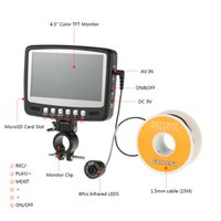 Wholesale With DVR Function M Underwater Professional Fish Finder Fishing HD TVL Cam quot Color LCD HD Monitor