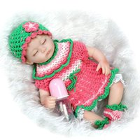 baby mating - 42CM Vinyl Toys inches Soft Silicone Baby Reborn Dolls Lifelike Realistic Newborn Girls Lovely Sleep Mate Doll Brinquedos