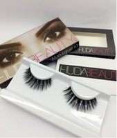 beauty cotton - Huda Beauty False Eyelashes Messy Cross Thick Natural Fake Eye Lashes Professional Makeup Bigeye Eye Lashes Handmade
