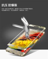 bord Galaxy S7 50PCS en verre trempé protecteur trempé écran protecteur Couverture Curved Partie de protection Film