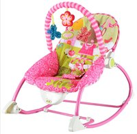 Wholesale Retail Baby Rocking Chair Electric Baby Swing Chair Child Cradle Bed Appease Newborn Rocking Chair Chaise Lounge With Music
