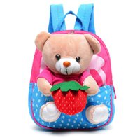 2016 New Kindergarden Cartoon Student Sac à dos Sac à provisions Baby Nursery School Bag Sacs bébé Kindergarden Lovely Fruit Sacs bébé Bag009