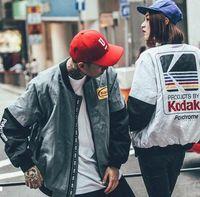 baseball wind jackets - New Popular Logo Japaneseport of Harajuku Fashion Wind Restoring Ancient Ways Bomber Jackets Menswear MA1 Baseball Uniform Coat