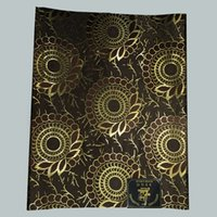 Wholesale 2 African traditional Head Gear black and gold Nigeria Headwear African Super Jubilee Sego Head Tie Wrapper LXL