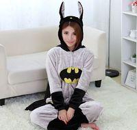 batman costumes cheap - Adult Unisex Batman Flannel Pajamas Hero Onesies Costume Men Women One Piece Sleepwear Couples Kugurumi Cheap Homedress Siamese Onesies HD01