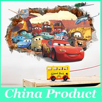 art window film - Fashion movie cars wall stickers kid bed play room decoration diy d cartoon film fantastic window home decal nursery kids mural art