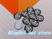 Wholesale 8pcs Car styling mm CM Toyota Car logo auto Key Fob Emblem Badge Radio button Sticker Auto accessories