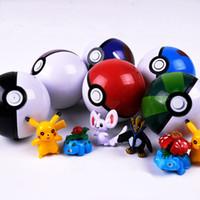 Wholesale 5Pcs Ball Figures ABS Anime Action Figures PokeBall Toys Super Master Ball Toys Pokeball Juguetes CM