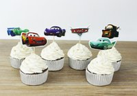 Wholesale Cars PLEX inserted card stands of cupcake tool for Kids Birthday party or Christmas or party or wedding Decorations Supplies