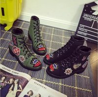 army style boots - 2016 new shoes autumn and winter boots thick with heavy bottomed boots motorcycle Martin boots female British style autumn boots