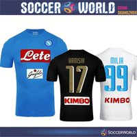 Wholesale New Napoli soccer jerseys Naples Home Away Third football Jerseys MILIK HAMSIK L INSIGNE CALLEJON soccer Shirt