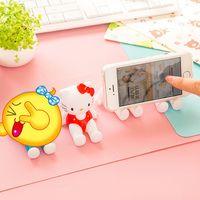 animations cell phone - Fashion Plastic Crafts Cute D Animation Model Shelf Desktop Cartoon Mobile Phone Holder Cell Phone Holder Stands