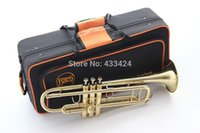 Wholesale Bach LT180 B flat professional trumpet bell gold Top musical instruments in Brass trompete trumpeter bugle horn trombeta