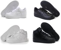 air force sale - Force Men Sports Skateboarding AF1 Shoes Cheap Air Hot sale White black Force one Shoes size high quality
