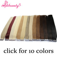 Wholesale Tape In Human Hair Extensions Natural Black Remy Brazilian Straight Skin Weft Hair Blonde Tape Hair Extensions Brown Sales