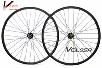 axle sets - 29inch MTB carbon wheelset er carbon MTB AM DH wheels Thru axle hub mountain bike wheel hookless rim tubeless compatible