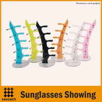 Wholesale Color Sunglasses Showing Colorful Racks Eyeglasses Frame Display Holder Stand High quality