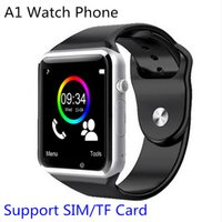 Wholesale 2016 NEW A1 SmartWatch Bluetooth Watch Phone support SIM TF Card and Gravity Sensor for iPhone6 Samsung S7 Note3 Note4 HTC Android IOS Phone