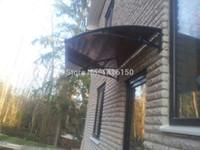 Wholesale DS80120 A x120cm Depth cm Width cm Balcony Window Door Awning Aluminum Bracket In Black White Grey Door Canopy Awning