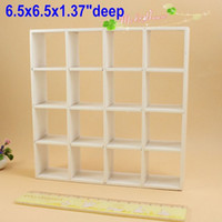 wood bookcase - 1 scale Dollhouse Miniatures Wood Bookcase Shelving Mini Display Grid Doll house Storage Cabinet White Furniture