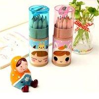 Wholesale 12pcs Lapis De Cor Prismacolor Colored Pencils Pink Blue Wooden Writing Painting For Kids Sharper School Supplies cm