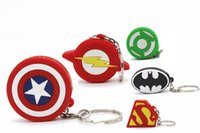 batman logo flash drive - Silicone Superman Batman Captain America Green Lantern Logo USB Flash Memory Stick Pen Drives GB GB GB GB PVC Cool Gift