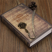 Wholesale Retro Vintage Book Mark Vintage Metal Alloy Rose Bronze Bookmark Document Label Gifts DIY Accessories Art Collection Stationery