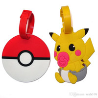adress labels - DHL New Poke Go Pikachu Luggage ID Tags Labels Travel Boarding Adress ID Card Case Bag Collectibles Keychain Key Rings Toys Gifts ZJ T05