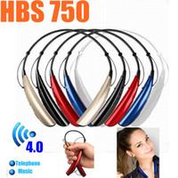 Wholesale HBS Wireless Bluetooth Earphone Sport Tone HBS Headset Earphone Headphones For iphone Samsung S4 edge HTC LG Huawei